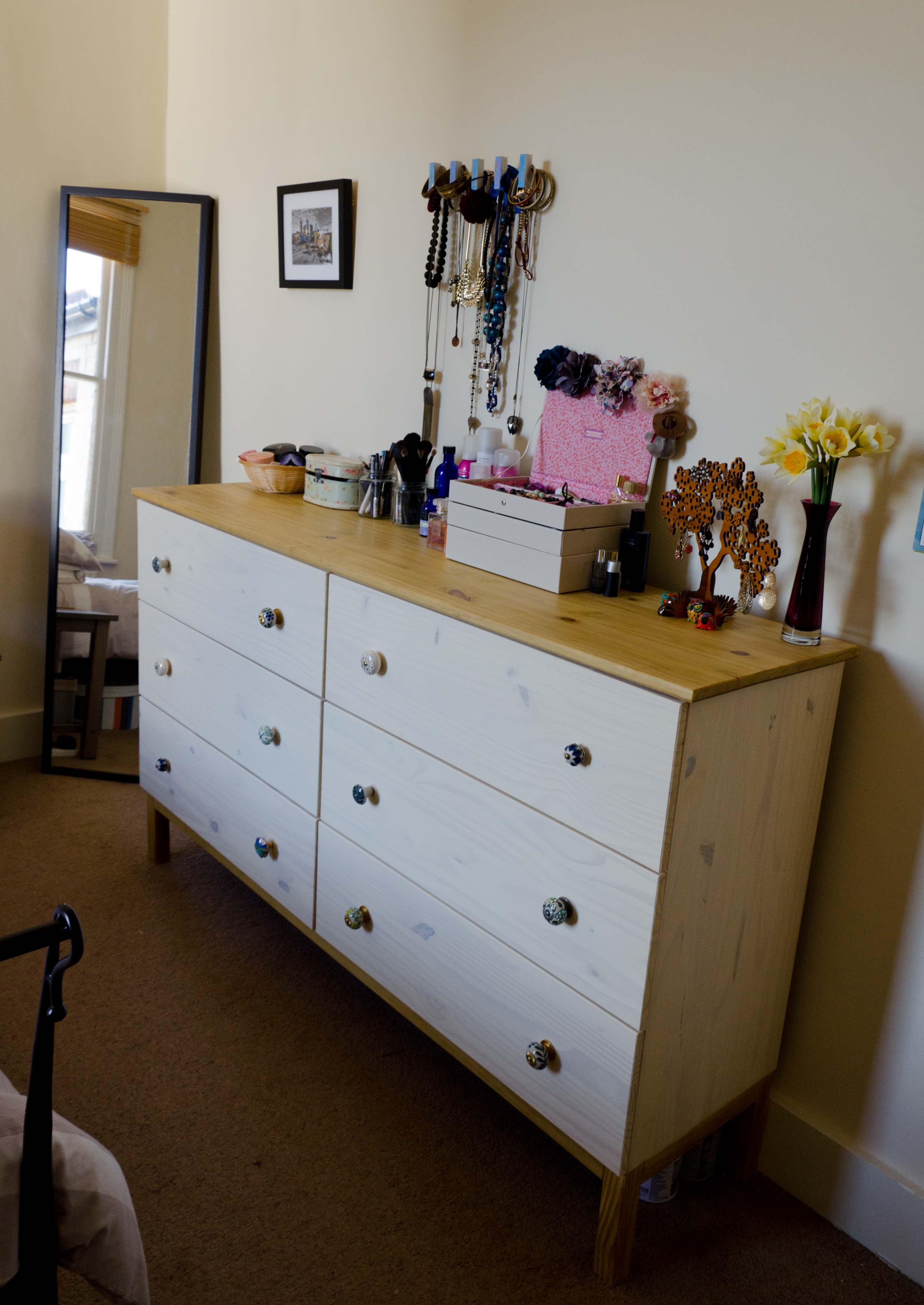 ikea tarva on the first floor. Black Bedroom Furniture Sets. Home Design Ideas